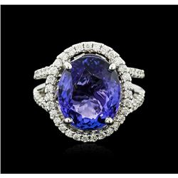 14KT White Gold 7.20 ctw Tanzanite and Diamond Ring