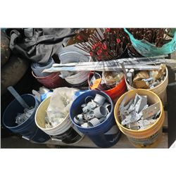 Contents of Pallet - Buckets Containing Hardware