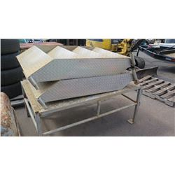 Aluminium Diamond Plate Steps and Platform (Was Used For Mobile Office)