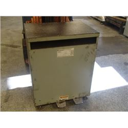 GE 112.5KVA Transformer, Cat. No.: 9T23B3875