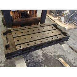 "Steel 3 Slot Milling Table, Overall: 53"" x 21"" x 7"""