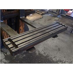 "Steel 3 Slot Milling Table, Overall: 44"" x 10"" x 4.25"""