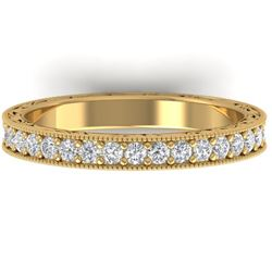 1 CTW Certified VS/SI Diamond Art Deco Eternity Band 14K Yellow Gold - REF-78K2W - 30272