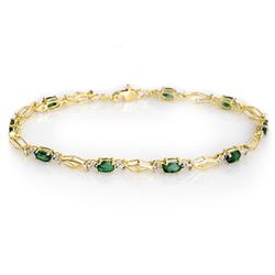 2.80 CTW Emerald Bracelet 10K Yellow Gold - REF-26X9T - 10845