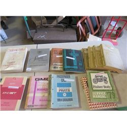 14 Manuals, '77 Olds, '76 Seville, '78 Acadia, , '70 Pontia, '78 4 volumes Car Shop manuals, '73 Che