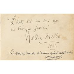 Nellie Melba and Victor Maurel