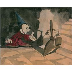 Mickey Mouse watercolor concept painting from Fantasia