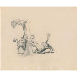 Centaur and Centaurette concept production drawing from Fantasia