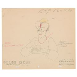 Wicked Stepmother production color model drawing from Cinderella