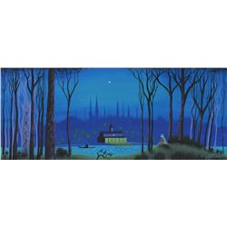 Eyvind Earle concept painting from Lady and the Tramp