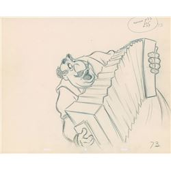 Tony production drawing from Lady and the Tramp