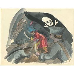 Pirates of the Caribbean ride concept painting by Marc Davis