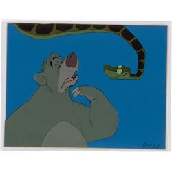 Baloo and Kaa production cels from The Jungle Book