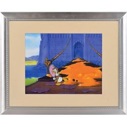 Donald Duck production cel and drawing