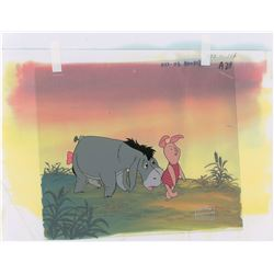 Eeyore and Piglet production cel from The New Adventures of Winnie the Pooh