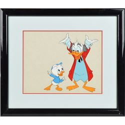 Ludwig Von Drake and Dewey Duck production cel