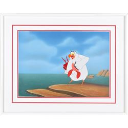 Scuttle and Sebastian production cel from The Little Mermaid