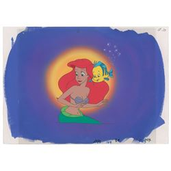 Ariel and Flounder production cels from The Little Mermaid television show