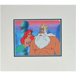Ariel and King Triton production cel from The Little Mermaid television show