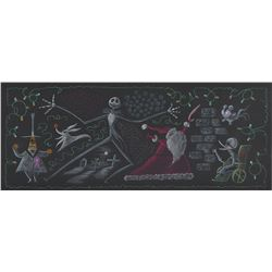 Jack Skellington, Zero, and Santa Claus concept storyboard from The Nightmare Before Christmas