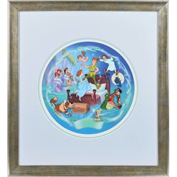 Peter Pan characters production cel and master background set-up from Disney's Musical Memories coll