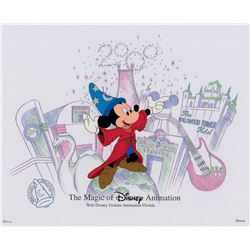 Mickey Mouse limited edition hand-painted cel from Disney World