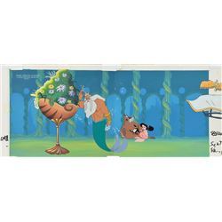 Melody and King Triton production key master background set-up from The Little Mermaid II