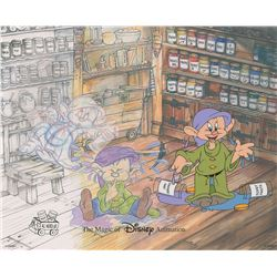 Dopey limited edition hand-painted cel from Disney World