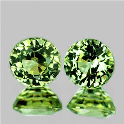 Natural Brilliant Green Sapphire Pair 5.20 MM -