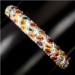 Natural  Top Fancy Color Sapphire 127.08 Ct Bangle