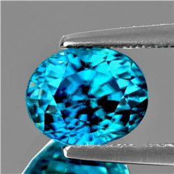 Natural Electric Blue Zircon 3.66 Cts - Flawless
