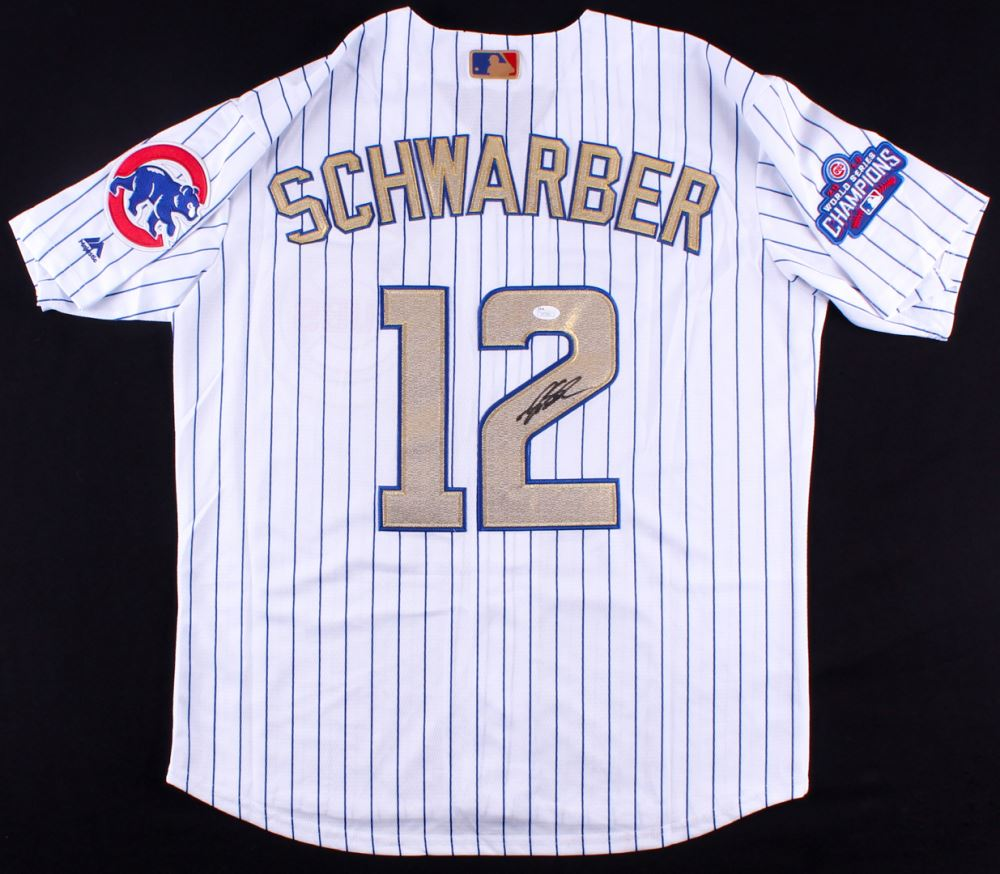 a964c7b7c34 official image 1 kyle schwarber signed cubs 2016 world series champions  jersey jsa coa b1c39 7cbc5