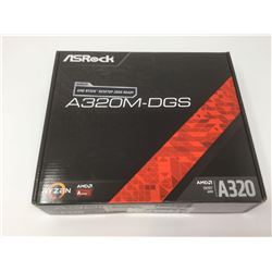 ASRock A320M-DGS AMD RyzenMotherboard Supports AMD Socket AM4 A-Series APUs (Bristol Ridge) and Ryze