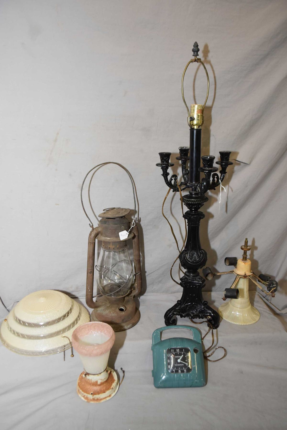 Image 1 Cast Blank Candelabra Style Table Lamp A Five Branch Gl Ceiling Fixture