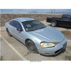 2002 - CHRYSLER SEBRING // REBUILT SALVAGE