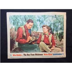 """1954 """"THE BOY FROM OKLAHOMA"""" LOBBY SCENE CARD, #1 IN SET, SIGNED BY NANCY OLSON"""