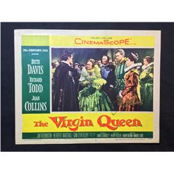 """1955 """"THE VIRGIN QUEEN"""" LOBBY SCENE CARD, #6 IN SET, SIGNED BY JOAN COLLINS"""