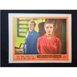 """1955 """"THE GOOD DIE YOUNG"""" LOBBY SCENE CARD, #5 IN SET, SIGNED BY JOAN COLLINS"""