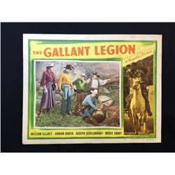 """1948 """"THE GALLANT LEGION"""" LOBBY SCENE CARD, #8 IN SET, SIGNED BY ADRIAN BOOTH"""
