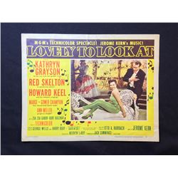 """1952 """"LOVELY TO LOOK AT"""" LOBBY SCENE CARD, #7 IN SET, SIGNED BY ANN MILLER"""