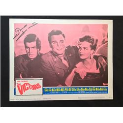 """1964 """"THE VICTORS"""" LOBBY SCENE CARD, SIGNED BY GEORGE HAMILTON"""