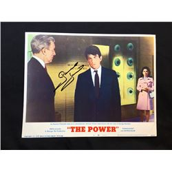 """1968 """"THE POWER"""" LOBBY SCENE CARD, #4 IN SET, SIGNED BY GEORGE HAMILTON"""