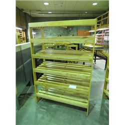 5 TIER BAKERING DISPLAY SHELVING, SOLID OAK, 6'X4'X20""