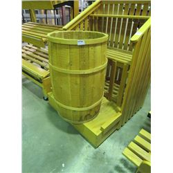"WOODEN BARREL 30""HX20W"