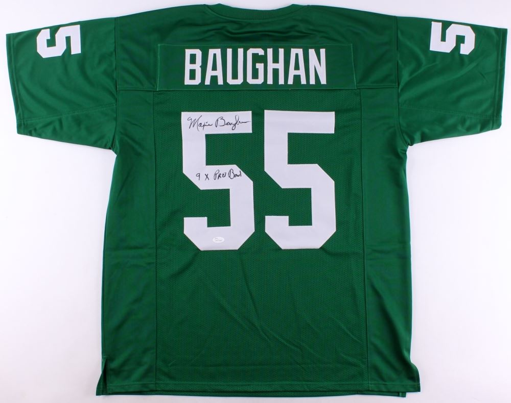 "Image 1 : Maxie Braughan Signed Eagles Jersey Inscribed ""9x Pro Bowl"" (JSA"