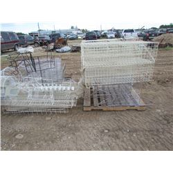 Pallet of wire baskets for shelves