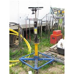 Hyrdraulic transmission jack stand on wheels