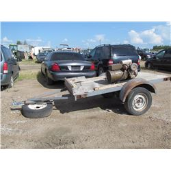 Utility trailer, single axle 4 ft w x 8 ft long, generator not included