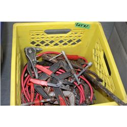 Various Tools in a Yellow Crate