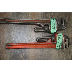 "2 - 14"" Rigid Pipe Wrenches"